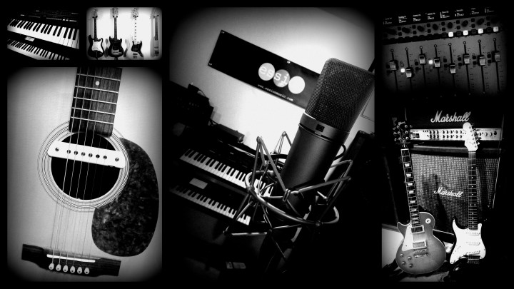 Ession recording collage